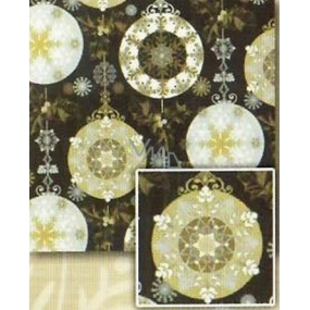 Nekupto Gift wrapping paper 70 x 500 cm Christmas Black, silver, gold motifs