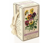 Somerset Toiletry Pansy luxury scrub soap on a string 230 g