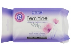 Beauty Formulas Feminine wet wipes for intimate hygiene 12 pieces