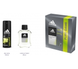 Adidas Pure Game AS 100 ml mens aftershave + 150 ml men's deodorant spray, cosmetic set