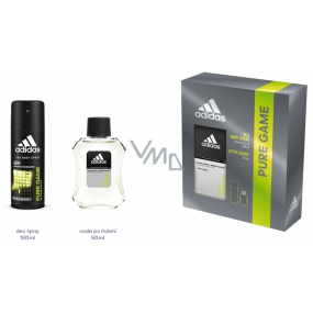 Adidas Pure Game aftershave 100 ml + deodorant spray for men 150 ml, cosmetic set