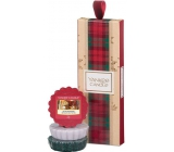 Yankee Candle After Sledding - After Toboggan + Evergreen Mist - Forest Mist + Candlelit Cabin - Candle illuminated Candle Wax for aroma lamp 3 x 22 g, Christmas gift set