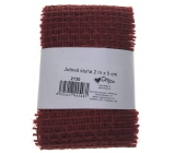 Ditipo Jute burgundy ribbon 2 mx 5 cm