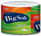 Big Soft Classic 2 ply toilet paper of different colors 1000 snatches 1 piece