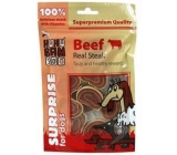 Huhubamboo Real beef steak natural meat delicacy for dogs 75 g