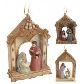 Nativity scene curtain mix 60 x 90 mm