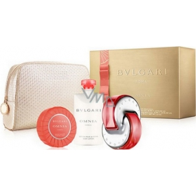 Bvlgari Omnia Coral eau de toilette for women 65 ml + body lotion 75 ml + scented toilet soap 75 g + case, gift set