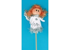 Angel figurine white groove 8 cm + skewers