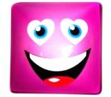 Nekupto Magnet Emoji Smajlík čtvereček fialový 4 x 4 cm