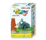 Jumping Clay Savana - Rhinoceros self-drying modeling mass 56 g + paper model 5+