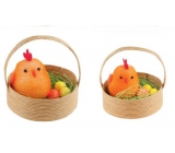 Chickens in a basket 5 cm, 2 pieces orange
