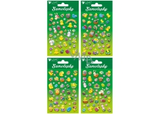 Easter plastic stickers 17x10 cm