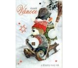 Nekupto Christmas Card Merry Christmas and Happy New Year 3149 R