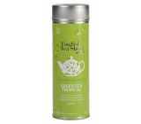 Česky Tea Shop Organic green tea with infusion of tropical fruits 15 pieces of biodegradable pyramids of tea in a recyclable tin jar 30 g, gift set