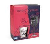 Albi My bar Women's set mug Morning coffee 300 ml and a glass Evening wine 220 ml