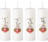 Emocio Advent candle cylinder with numbers color print 40 x 120 mm 4 pieces
