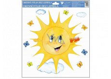 Room Decor Window foil hand-painted sun with a comb 30 x 30 cm