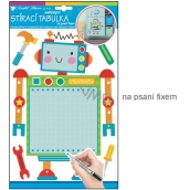 Room Decor Sticker writing board robot 34 x 21 cm 1 arch