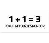 Bohemia Gifts & Cosmetics Love Condoms dárkový kondom 1 plus 1 rovná se 3 1 kus