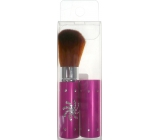 Cosmetic powder brush with cap pink 8.5 cm 30350