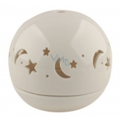 Porcelain candlestick, starry sphere 9.5 cm