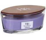 WoodWick Lavender Spa - Lavender bath scented candle with wooden wide wick and lid glass ship 453 g