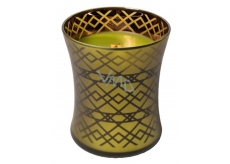 WoodWick Apple Basket - Basket with apples scented candle with wooden knot and lid medium glass 275 g Autumn limitid 2018