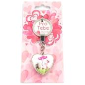 Nekupto For You Heart Keychain Animals 8.5 x 3.5 cm