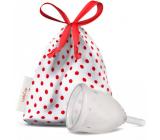 LadyCup Menstrual cup transparent, large L + Milton sterilization tablets
