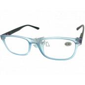Berkeley Reading glasses +2.0 plastic light blue, black sides 1 piece MC2184