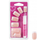 Diva & Nice Adhesive nails French manicure with glue 24 pieces NFD03-CBP