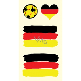 Arch Tattoo Decals on Face and Body Germany Flag 1 motif