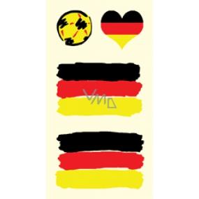 Arch Tetovací obtisky na obličej i tělo Německo vlajka 1 motiv