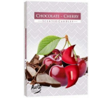 Bispol Aura Chocolate Cherry - Chocolate and cherries scented tea candles 6 pieces