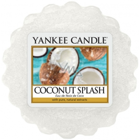Yankee Candle Coconut Splash - Coconut refreshing scented wax in aromalamp 22 g