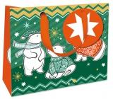 Nekupto Gift paper bag luxury small 18 x 16 cm Christmas WLIS 1740