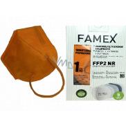 Famex Respirator oral protective 5-layer FFP2 face mask orange 10 pieces
