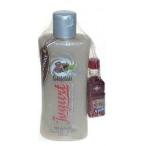 Bohemia Gifts Chocolate Yogurt shower gel 250 ml and liqueur 0.02 l, cosmetic set