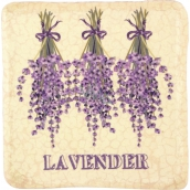 Bohemia Gifts Lavender hanging painted decorative tile 10 x 10 cm