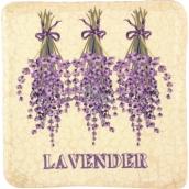 Bohemia Gifts & Cosmetics Lavender zavěšená malovaná dekorativní kachlík 10 x 10 cm