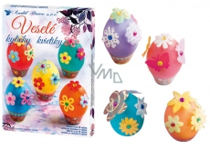 Decorating eggs Merry flowers set