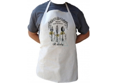 Bohemia Gifts & Cosmetics Kitchen apron with print Grand restaurant Grandfather, length 75 cm