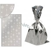 Angel Silver bag with flakes on the line 25 x 40 cm