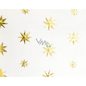 Zöwie Gift wrapping paper 70 x 150 cm Christmas Luxury White Christmas natural gold stars