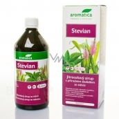 Aromatica Stevian syrup Stevia with sweetener from Stevia plant strengthens upper respiratory tract facilitates coughing 210 ml