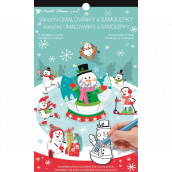 Christmas stickers and coloring book Snowman 14 x 23 cm