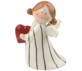Porcelain angel with a heart 10 cm on the stand