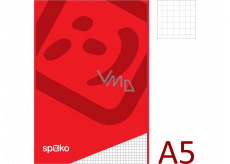 Spoko Block glued squared A5 50 sheets 60 g