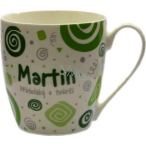 Nekupto Twister mug named Martin green 0.4 liters