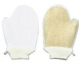 Lufa Cylindrica Massage Washcloth Gloves + Terrycloth Washcloth 16 x 24 cm Suitable for allergy sufferers 1 piece